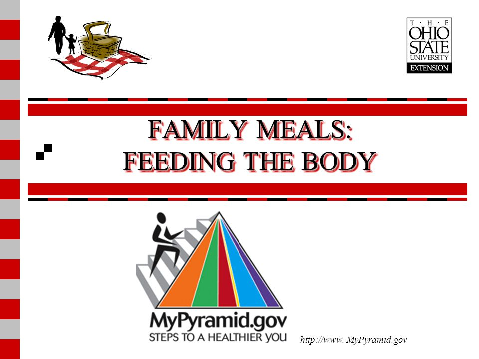 FAMILY MEALS: FEEDING THE BODY