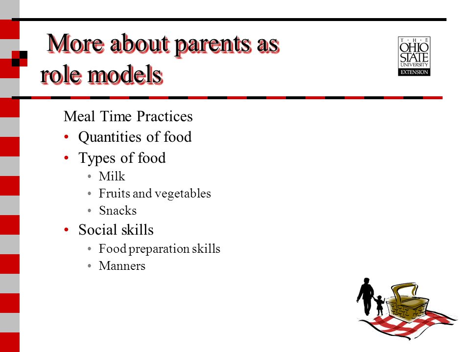 More about parents as role models