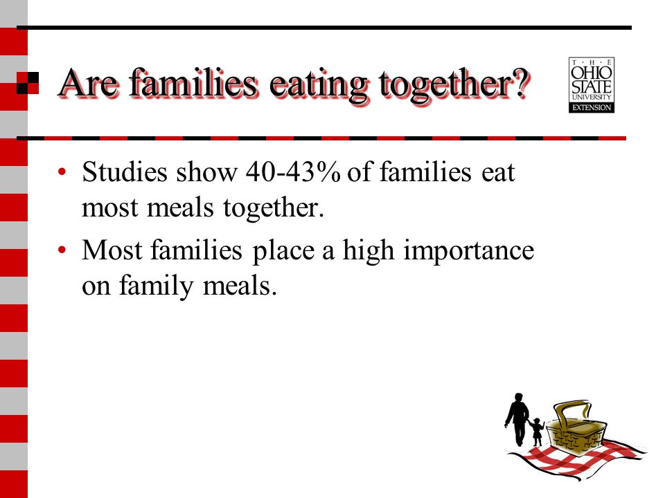 Are families eating together