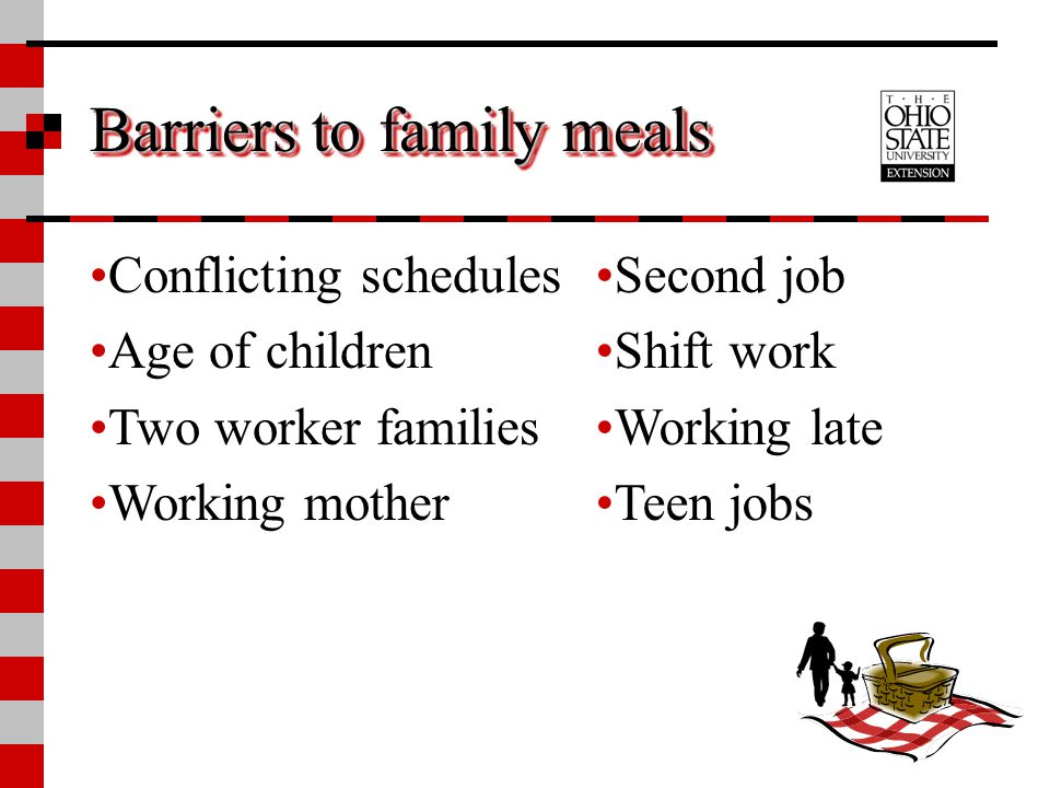Barriers to family meals