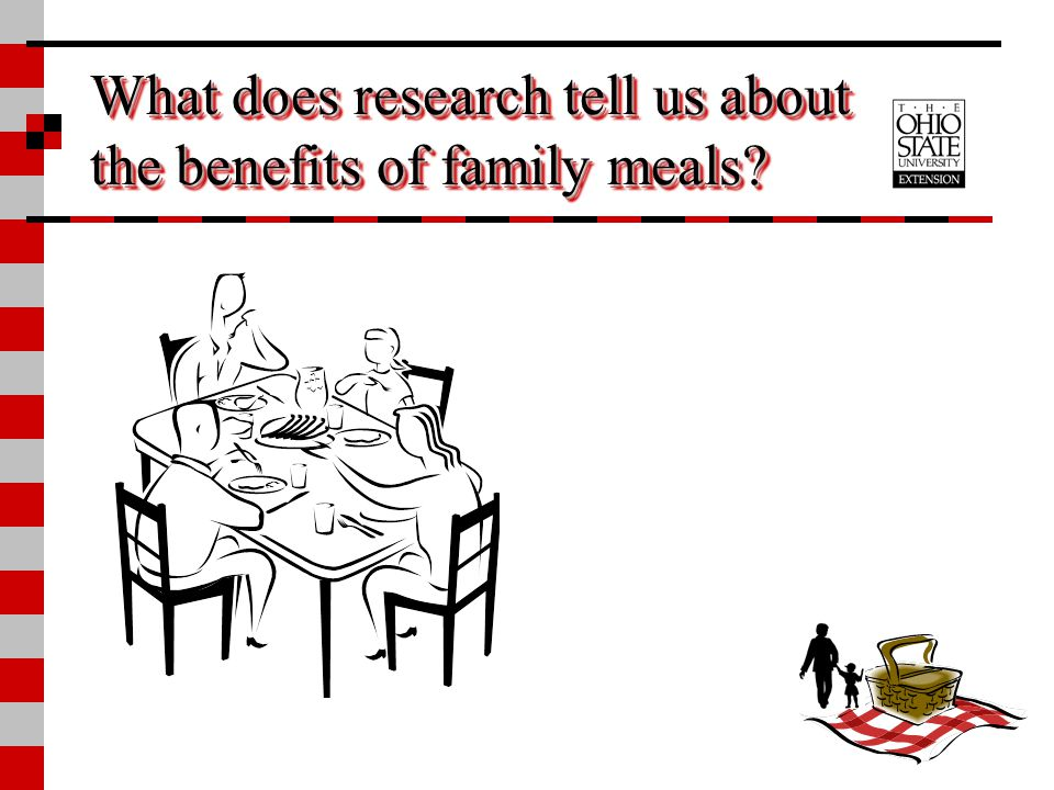 What does research tell us about the benefits of family meals