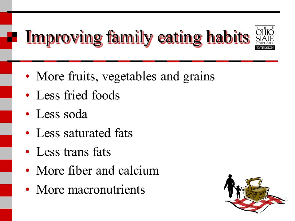 Improving family eating habits