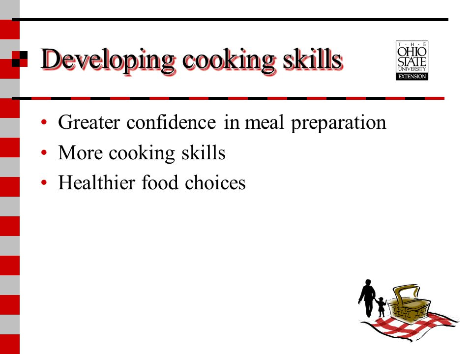 Developing cooking skills