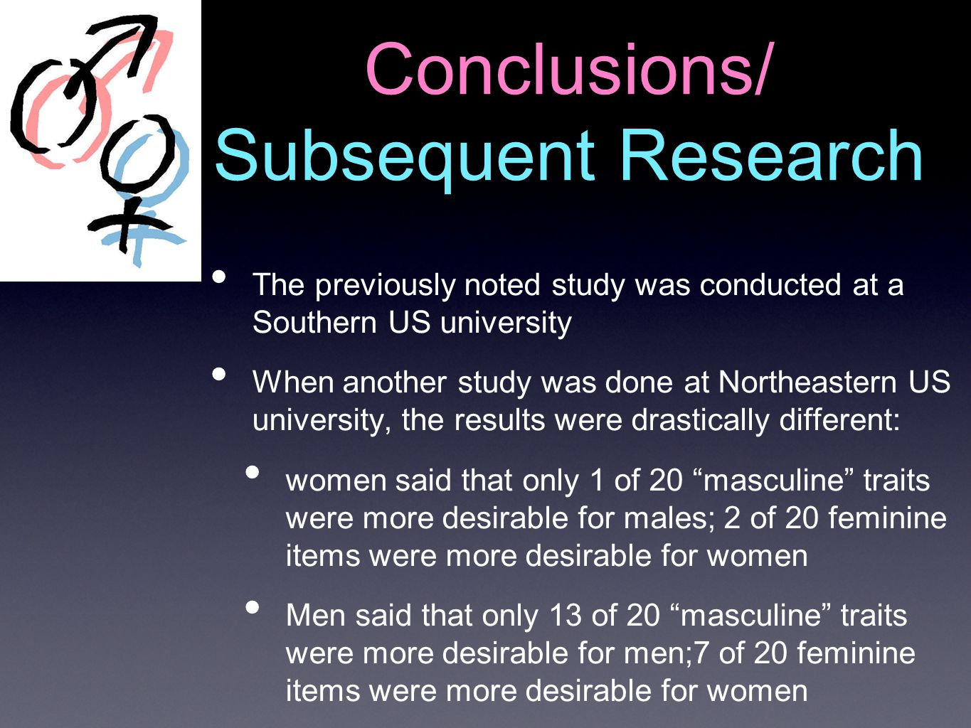 Conclusions/ Subsequent Research
