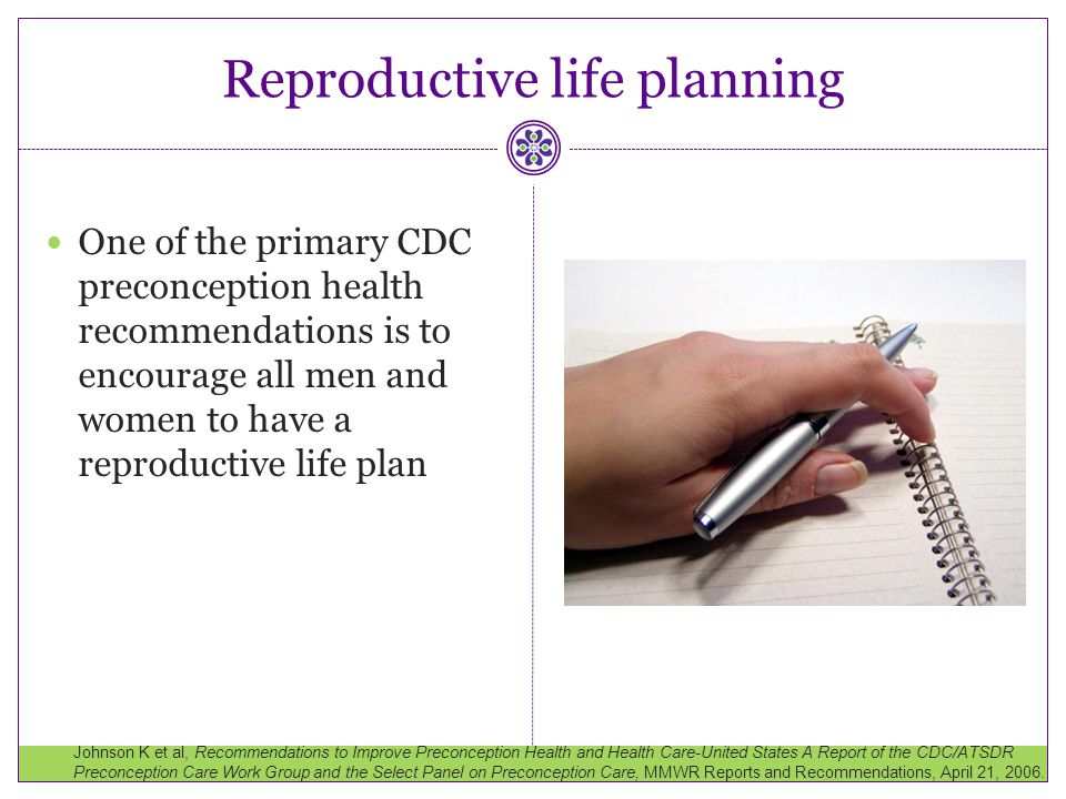 Reproductive life planning