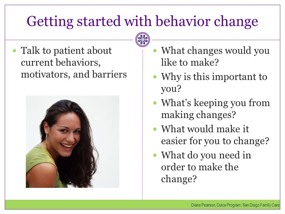 Getting started with behavior change