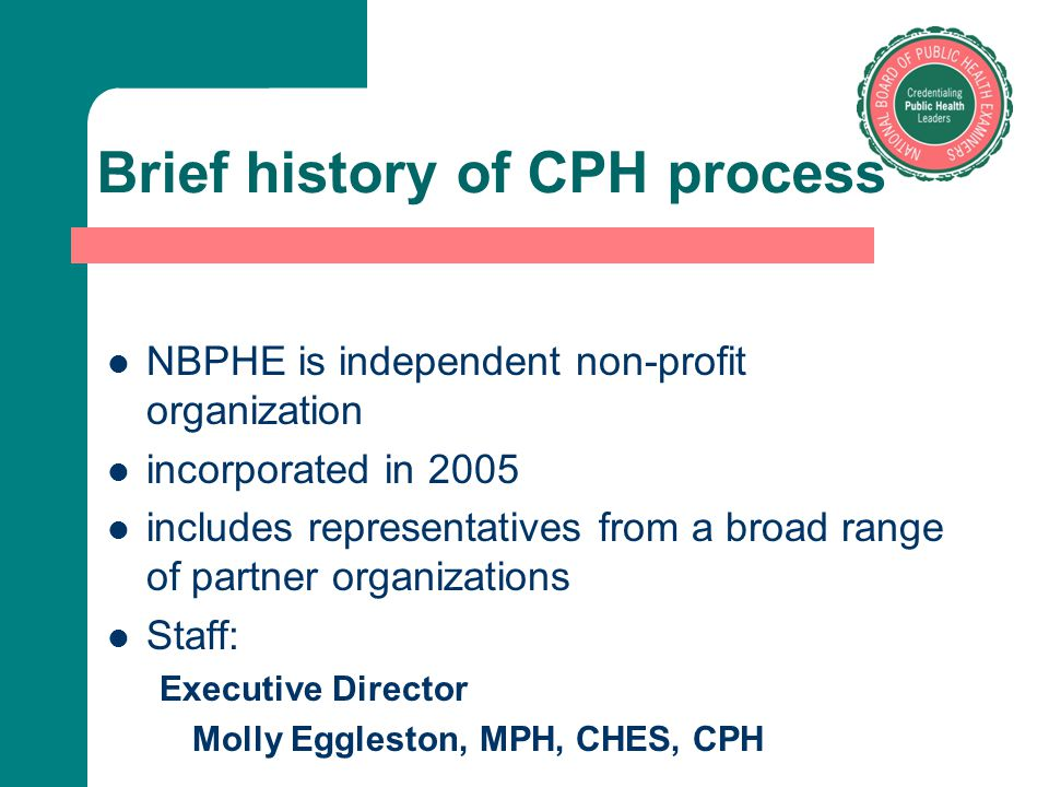 Brief history of CPH process