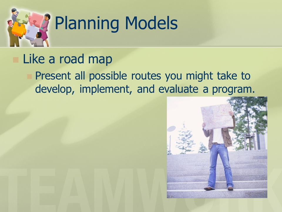Planning Models Like a road map