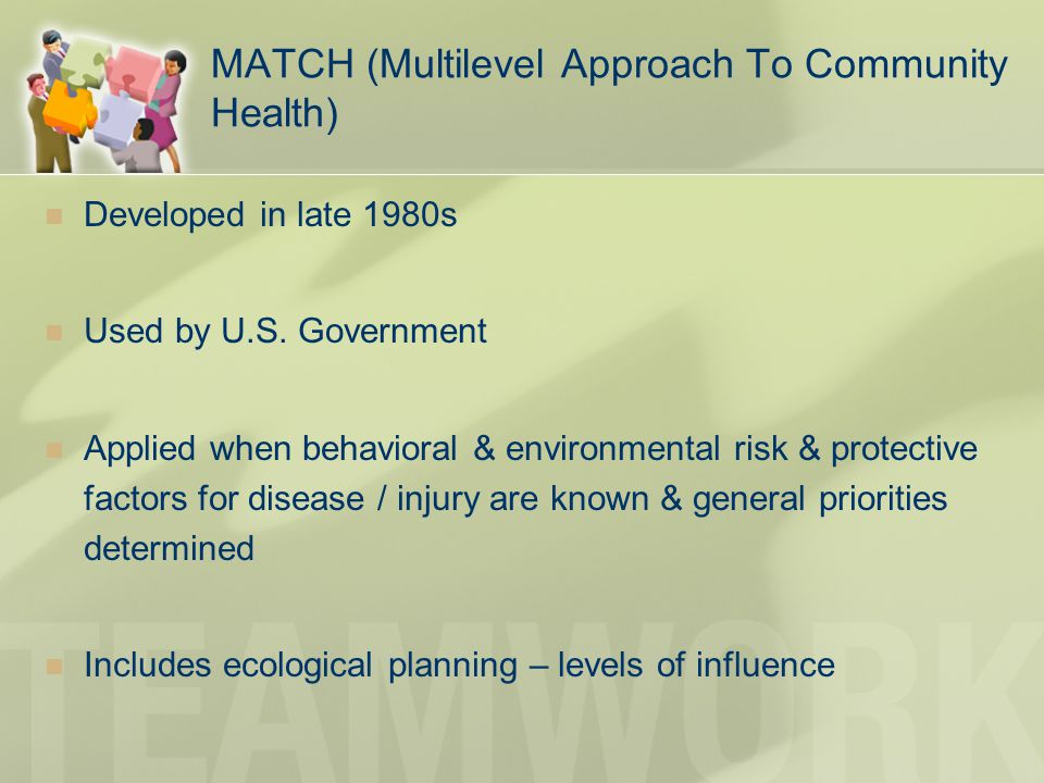 MATCH (Multilevel Approach To Community Health)