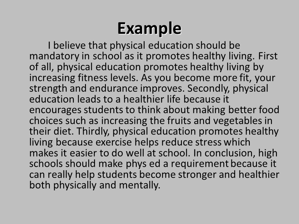 physical education should be mandatory for