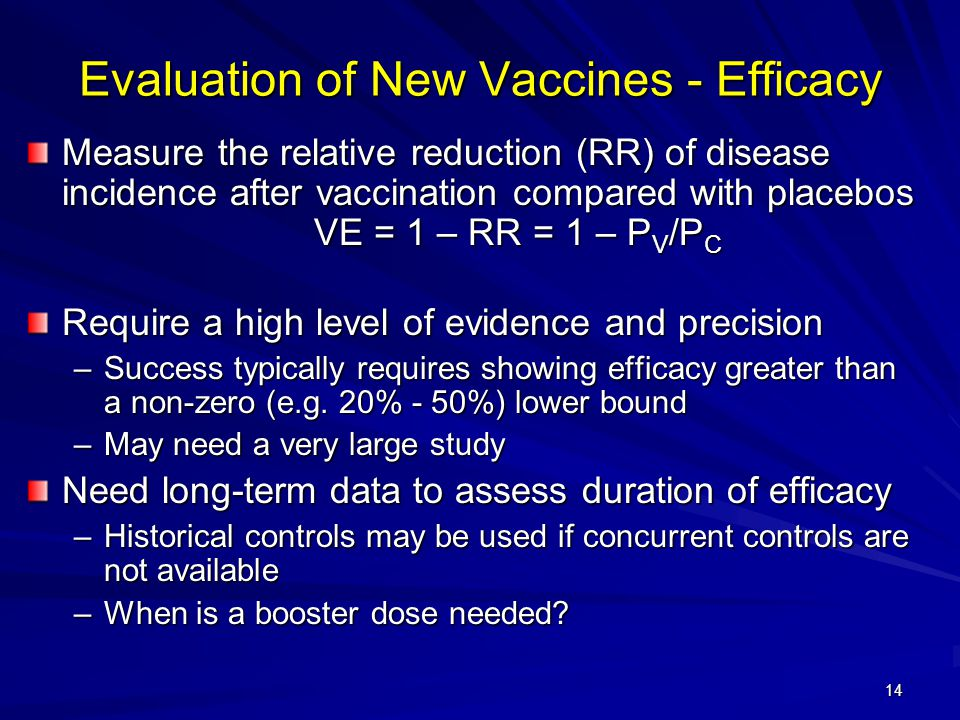 Evaluation of New Vaccines - Efficacy