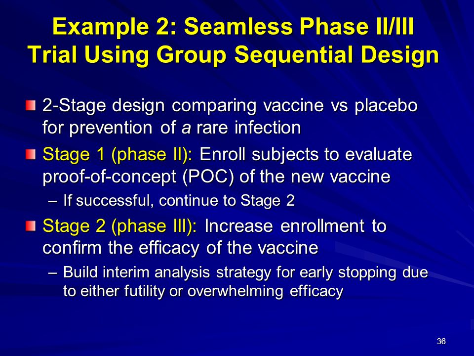 Example 2: Seamless Phase II/III Trial Using Group Sequential Design