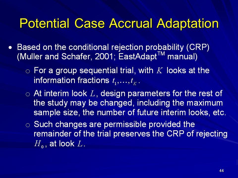Potential Case Accrual Adaptation