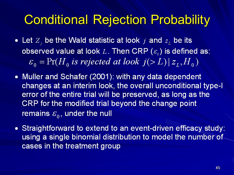 Conditional Rejection Probability