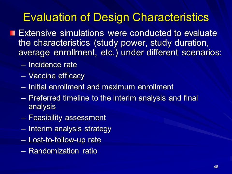 Evaluation of Design Characteristics