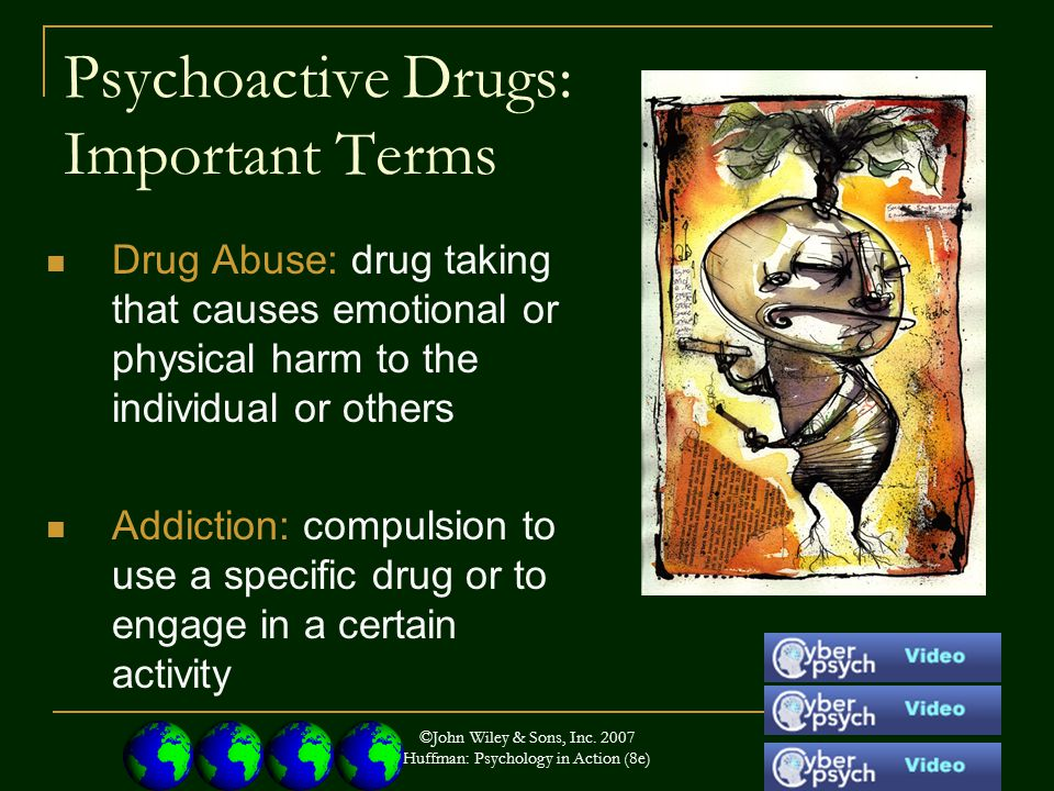 Psychoactive Drugs: Important Terms