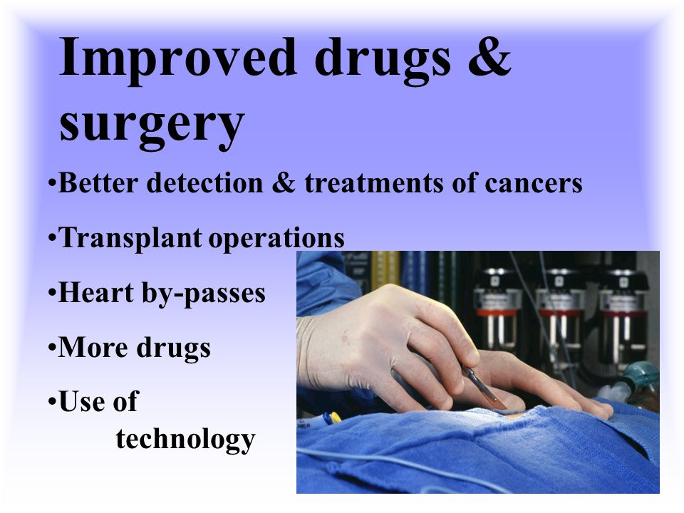 Improved drugs & surgery