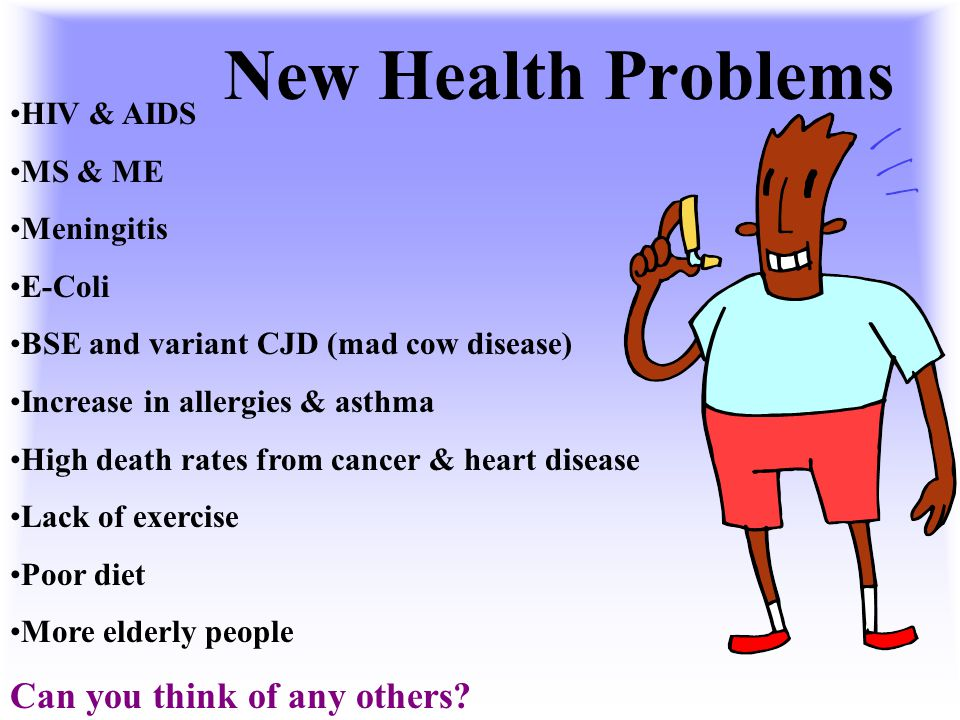 New Health Problems Can you think of any others HIV & AIDS MS & ME