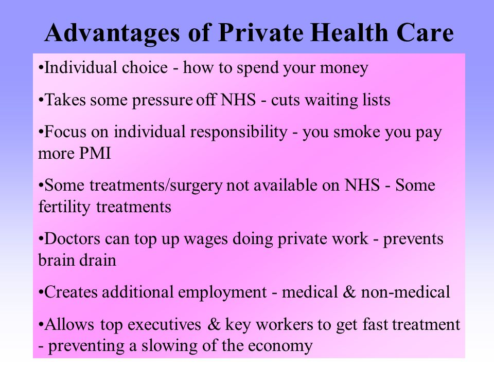 Advantages of Private Health Care