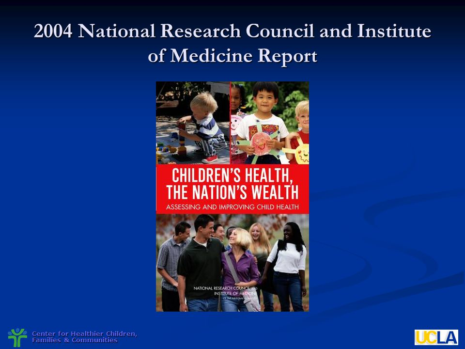2004 National Research Council and Institute of Medicine Report