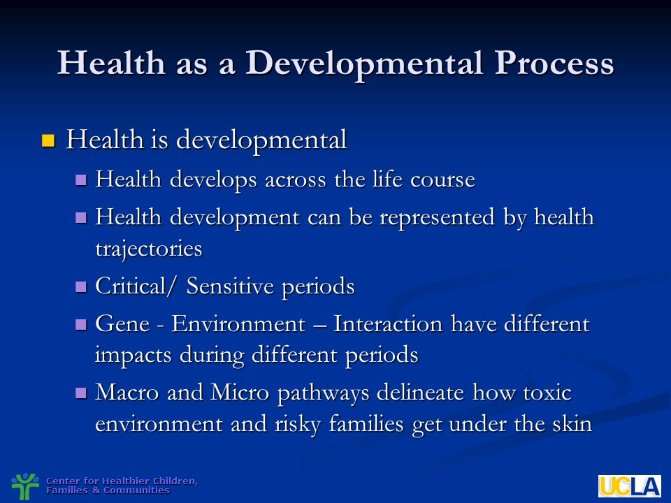 Health as a Developmental Process