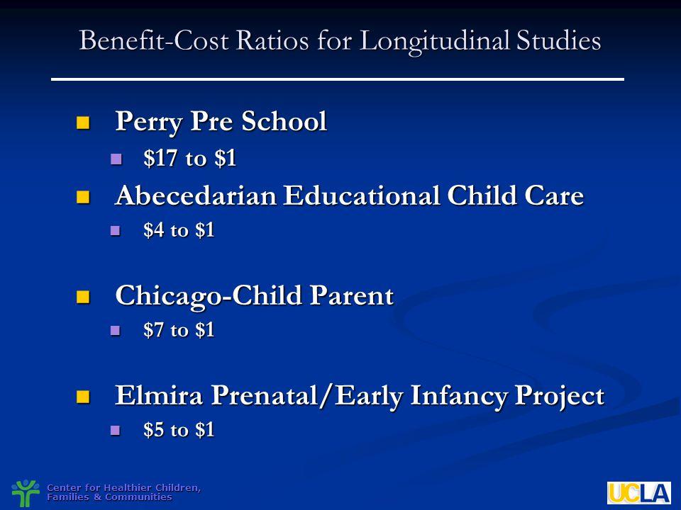 Benefit-Cost Ratios for Longitudinal Studies