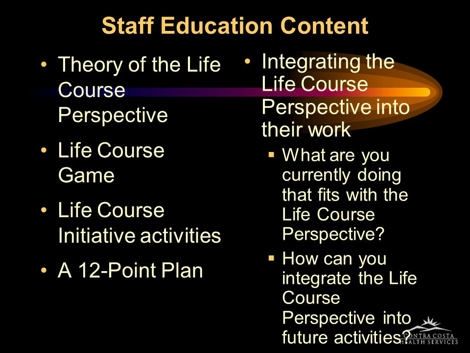 Staff Education Content