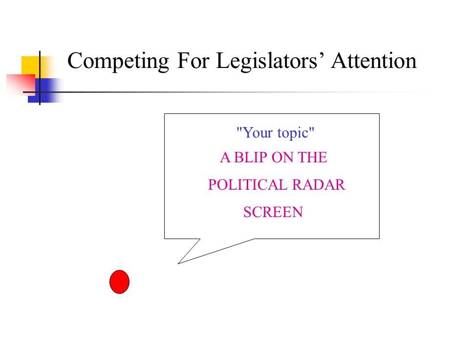 Competing For Legislators' Attention