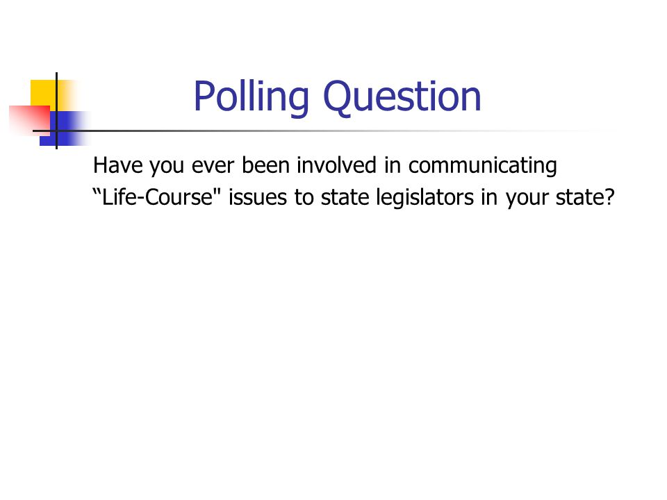 Polling Question Have you ever been involved in communicating