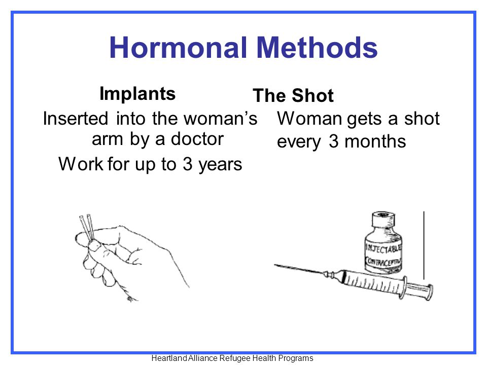 Inserted into the woman's arm by a doctor