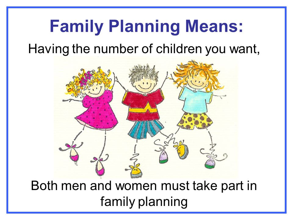 Family Planning Means: