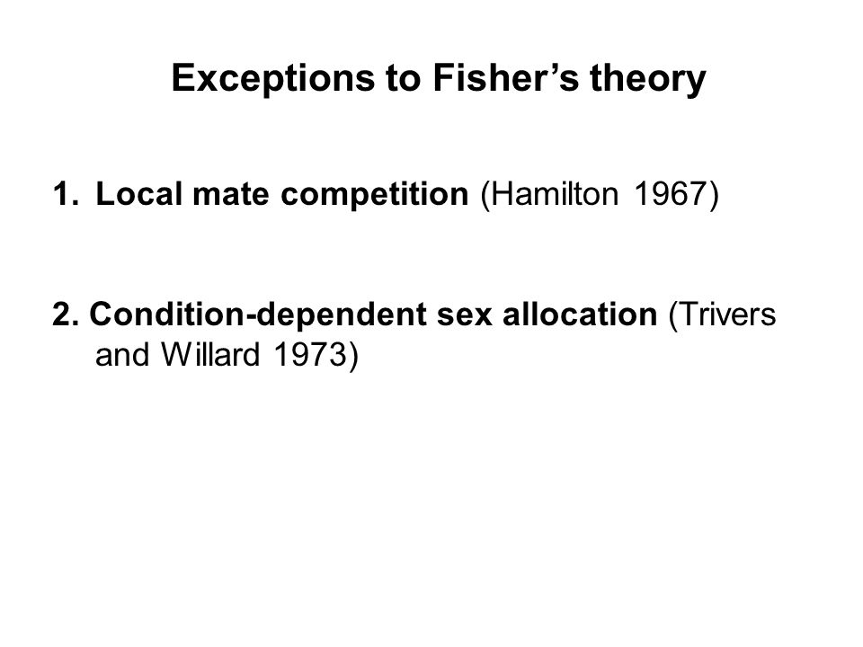 Exceptions to Fisher's theory