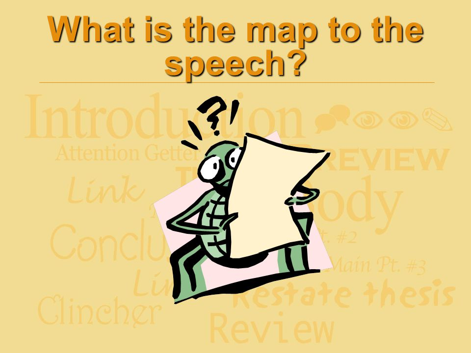 What is the map to the speech