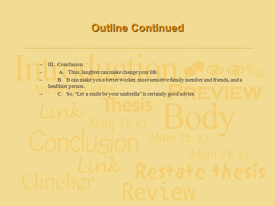 Outline Continued III. Conclusion