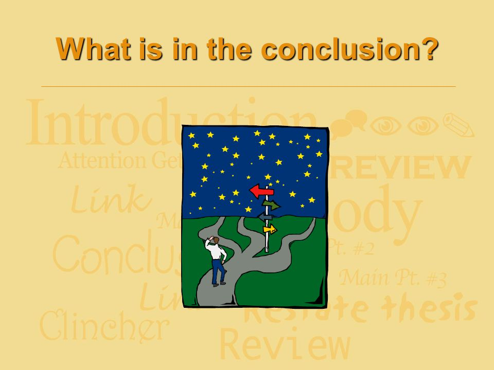 What is in the conclusion