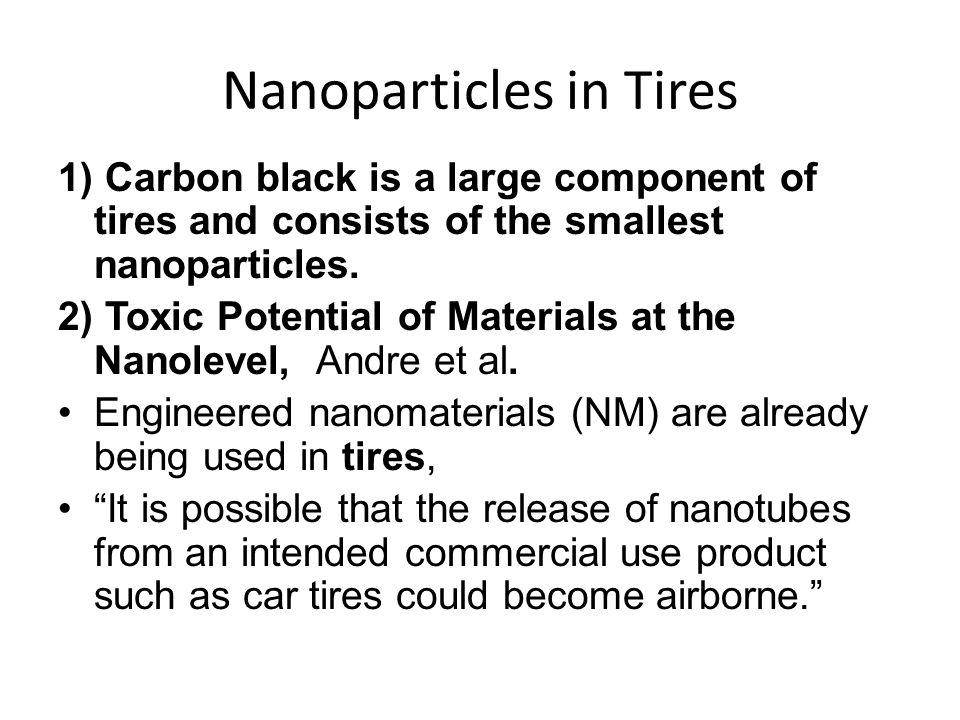 Nanoparticles in Tires