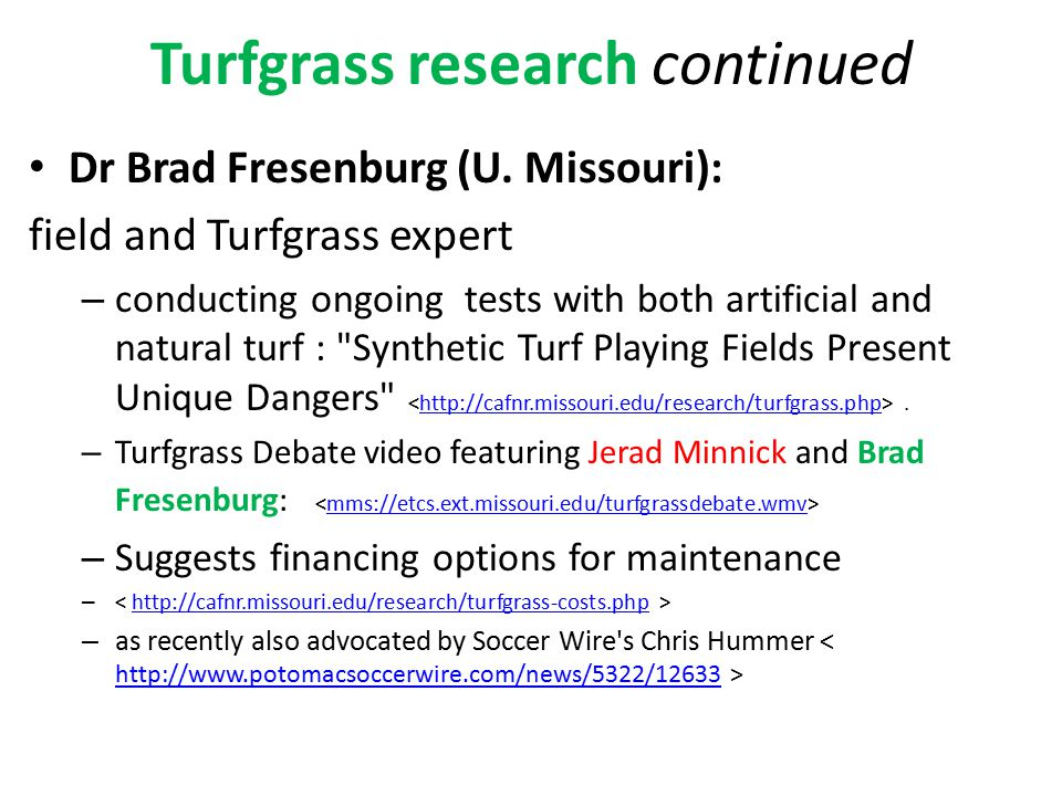 Turfgrass research continued