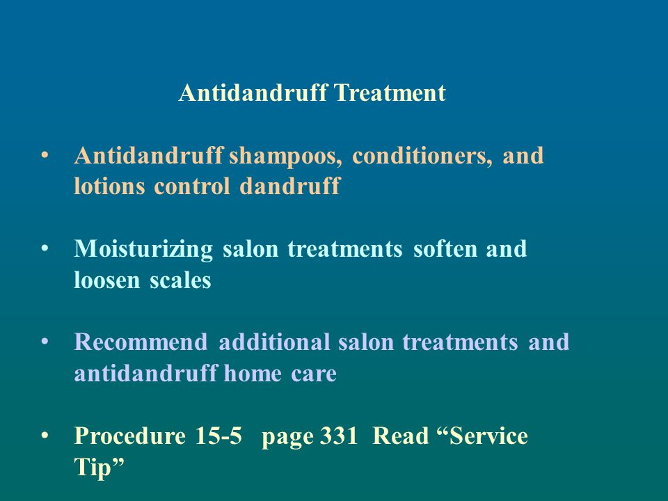 Antidandruff Treatment