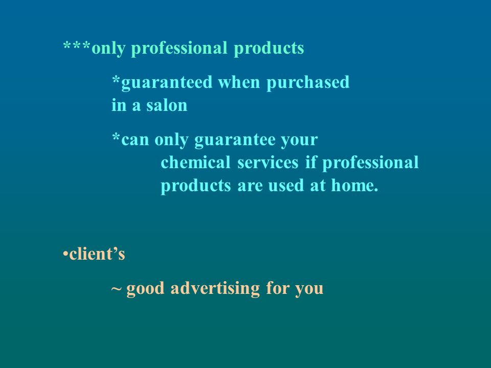 ***only professional products