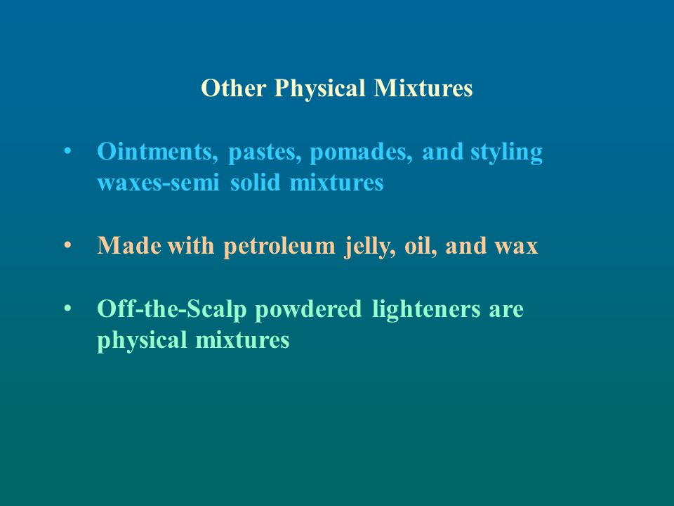 Other Physical Mixtures