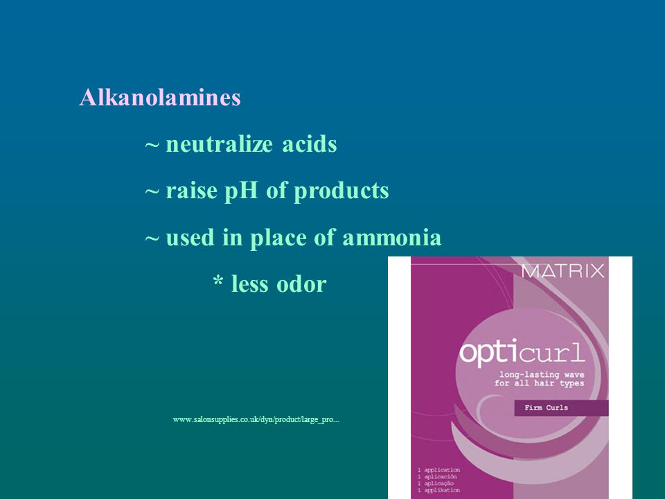 ~ used in place of ammonia * less odor