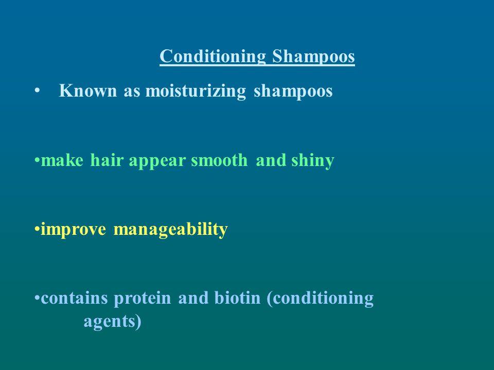 Conditioning Shampoos