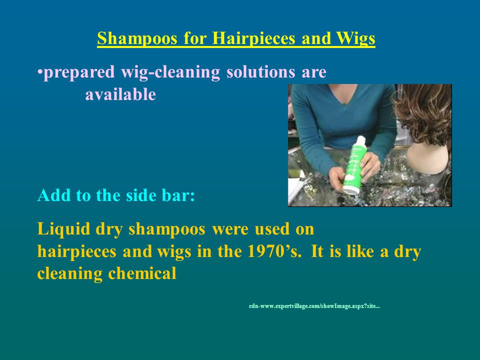 Shampoos for Hairpieces and Wigs