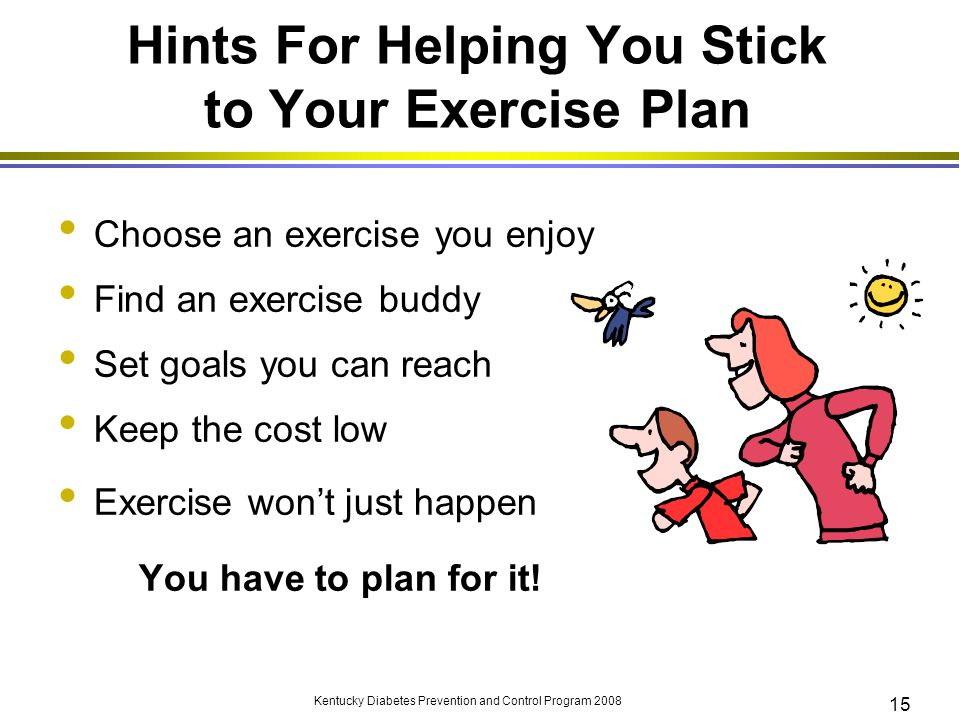 how to stick to your exercise plan