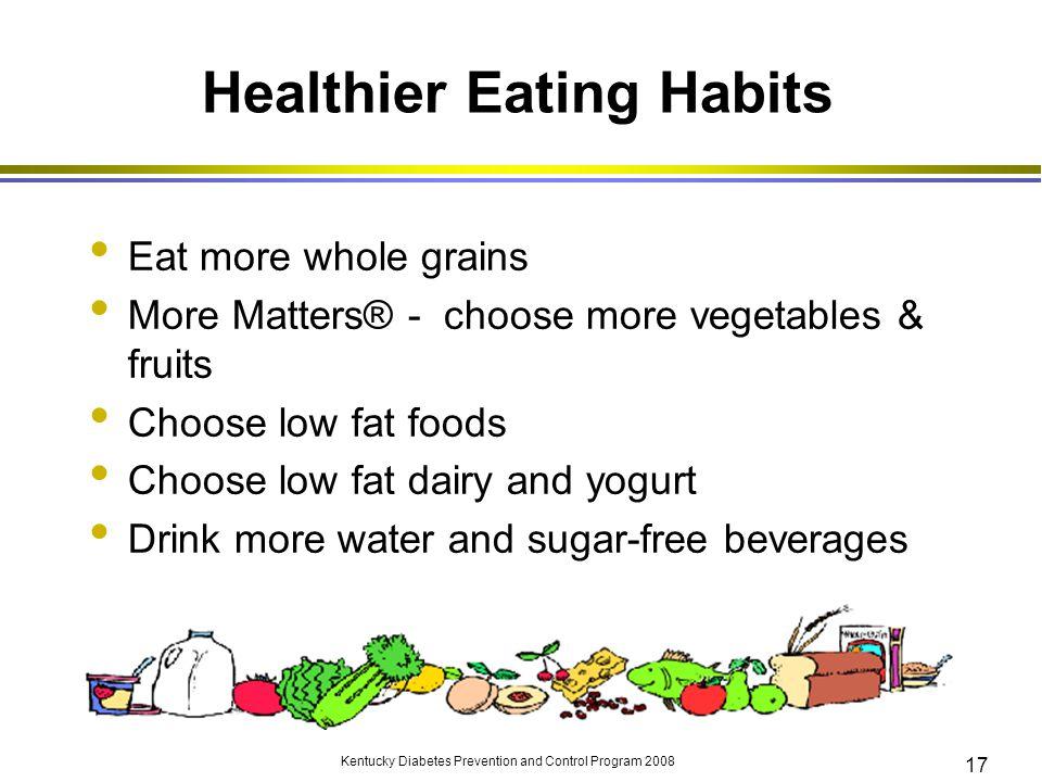 Healthier Eating Habits