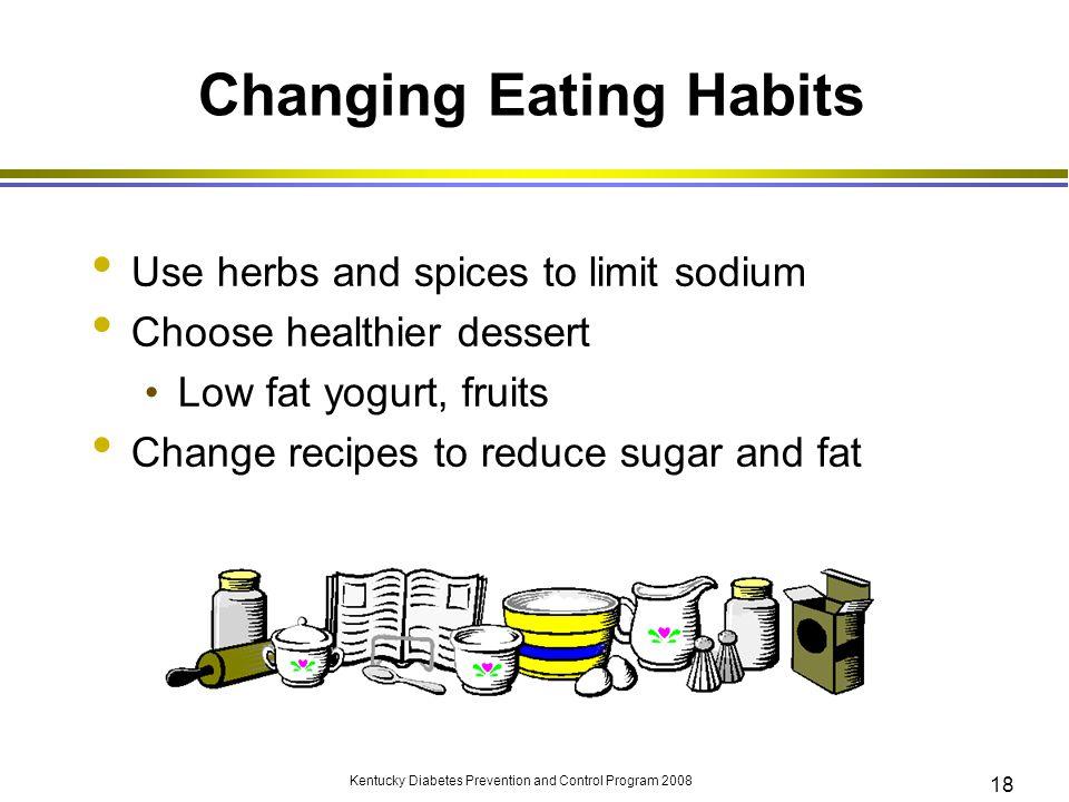 Changing Eating Habits