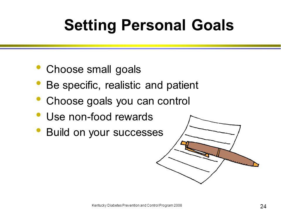 Setting Personal Goals