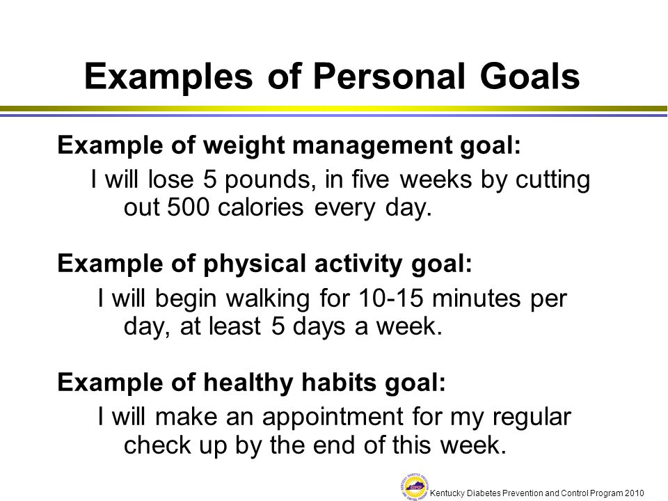 Examples of Personal Goals