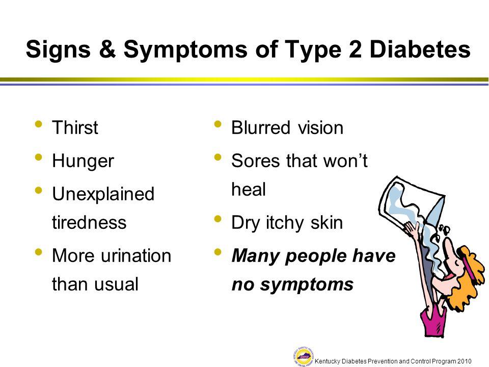 Signs & Symptoms of Type 2 Diabetes