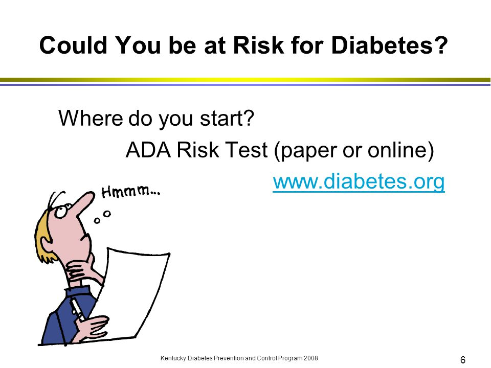 Could You be at Risk for Diabetes